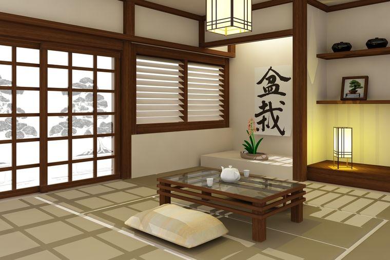 Стены в японском стиле фото