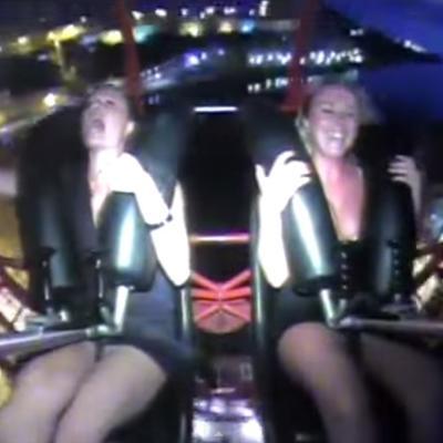 Orgazam bez seksa: Pogodite koja je od ove dve devojke više uživala u vožnji! (VIDEO)