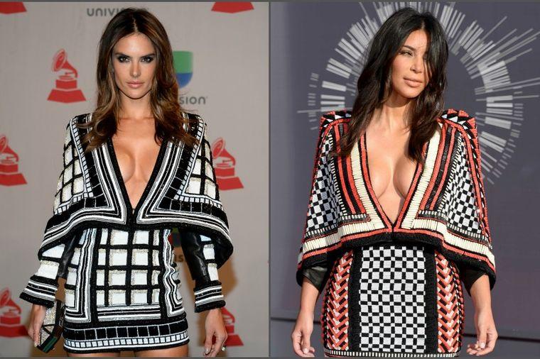 Jedna haljina, dve slavne ličnosti: Alesandra Ambrozio iskopirala Kim Kardašijan! (FOTO)