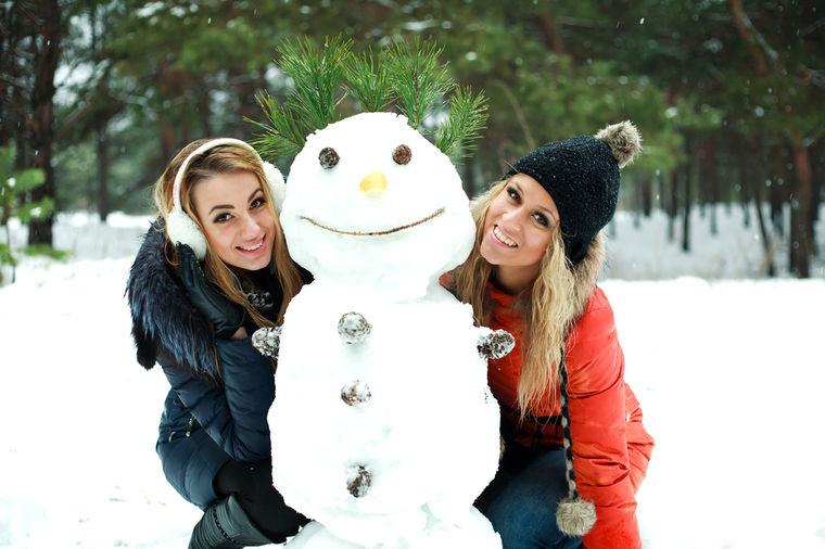Devojke na snegu