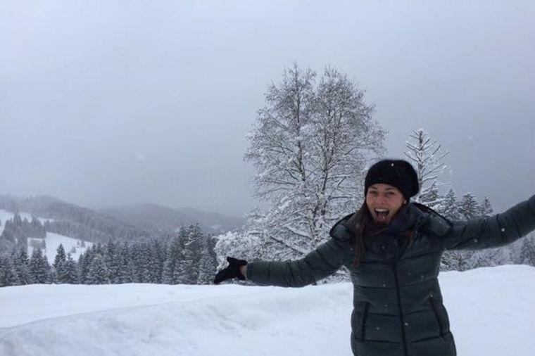 Ana Ivanović: Posle deset godina, konačno na snegu! (FOTO)