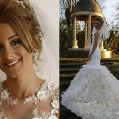 Želela je unikatnu haljinu: Mlada rukom prišila 22.000 guščjih pera na venčanicu! (FOTO)