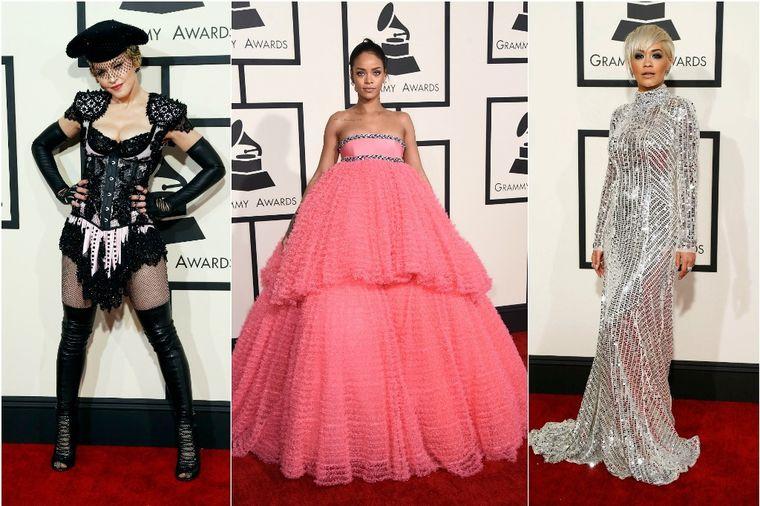 Tri najgora modna izdanja: Madona, Rijana i Rita Ora šokirale na dodeli Gremija! (FOTO)