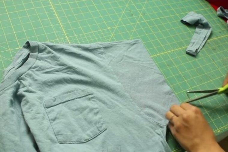 Trik od 10 minuta: Napravite sjajnu torbu od stare majice! (VIDEO)