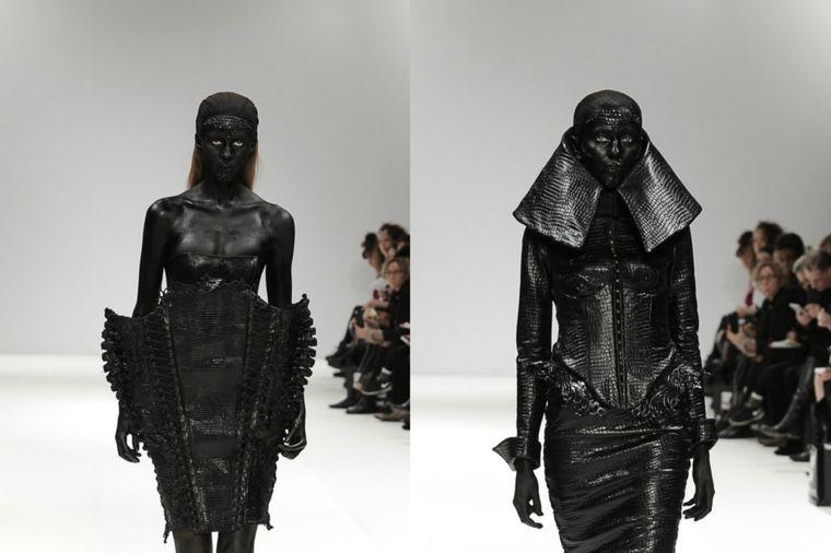 Marko Mitanovski na Fešn viku u Londonu: Crna koža, nitne i svemirski glamur! (FOTO)