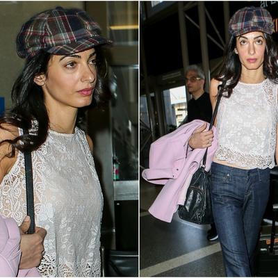 Amal Kluni bez šminke: Neraspoložena krenula kod muža! (FOTO)
