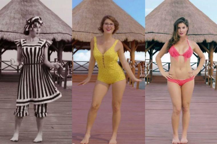 Od haljine do minijaturnih krpica: Kako se menjao kupaći kostim tokom 100 godina! (VIDEO)