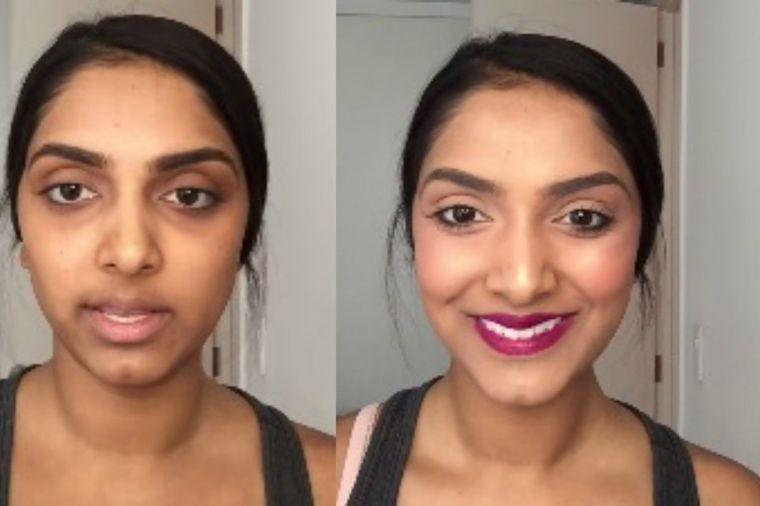 Trik profesionalnih šminkera: Uklonite kolutove oko očiju karminom! (VIDEO)