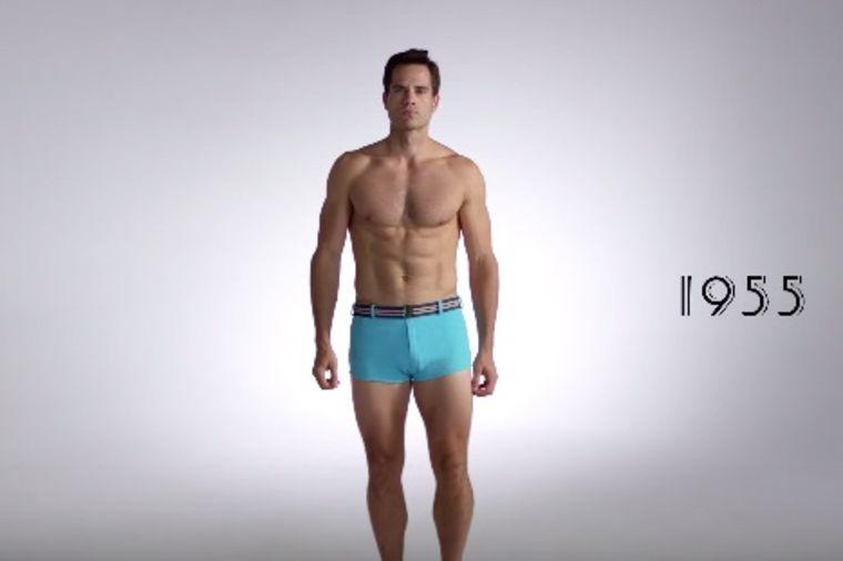 Žene, spremite se: Kako se menjao muški kupaći kostim tokom 100 godina! (VIDEO)