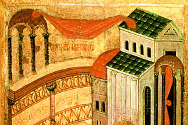 Foto: Wikipedia / Starac Simeon uzima u ruke Isusa Hrista