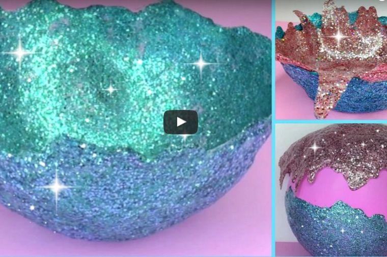Kako da napravite unikatne činijice: Treba vam samo balon, lepak i šljokice! (FOTO, VIDEO)