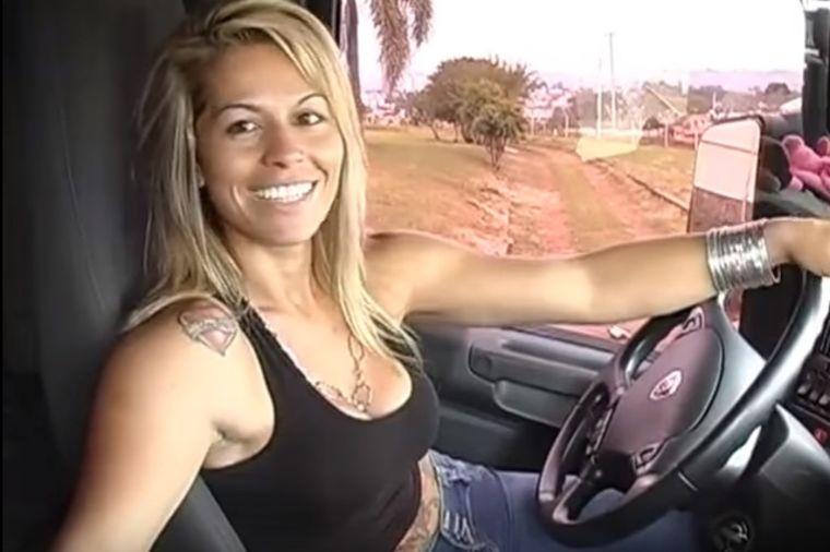Seks bomba za volanom šlepera: Žena za kojom su muškarci poludeli! (FOTO, VIDEO)