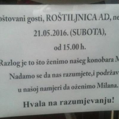 Svaka čast, gazda Dušane: Zatvorio ćevabdžinicu da oženi radnika! (FOTO)