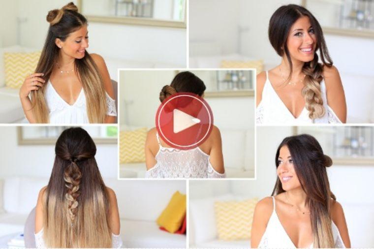 5 frizura za 1 minut: Pogledajte i probajte već danas! (VIDEO)