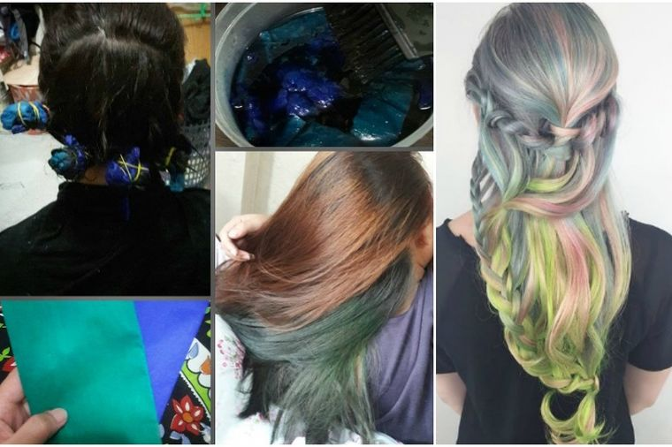 Privremeno farbanje: Hit frizura uz pomoć krep papira! (FOTO)
