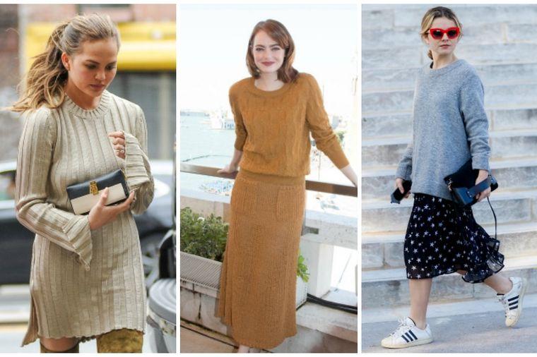 Tople, šik i neodoljivo seksi: Nosite pletene haljine kao holivudske dive!