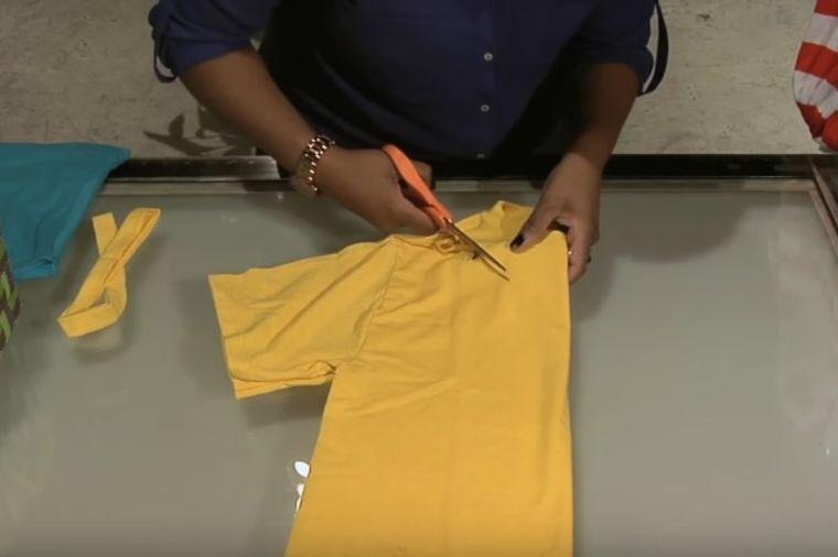 Staru majicu je isekla na 5 delova: Napravila je genijalnu stvar! (VIDEO)