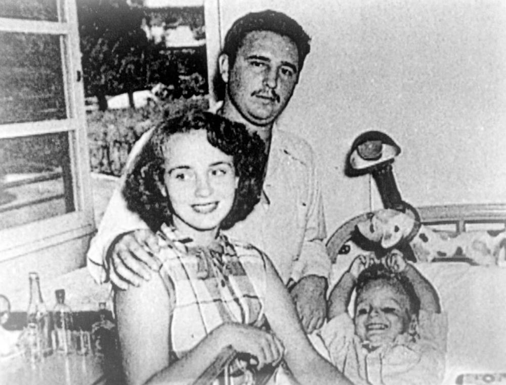 Fidel Kastro i Mirta sa sinom