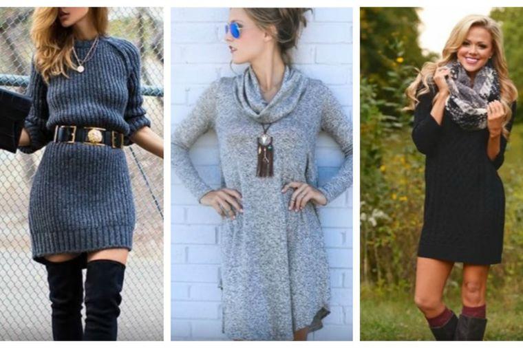 Moderno, a praktično: 20 načina da nosite džemper haljine! (VIDEO)