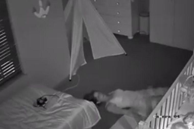 Postavio sigurnosnu kameru u bebinu sobu: Snimak njegove žene nasmejaće vas do suza! (VIDEO)