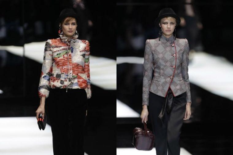 Armani revija na Nedelji mode u Milanu: Crne pantalone, strukirani blejzeri i jarke boje!