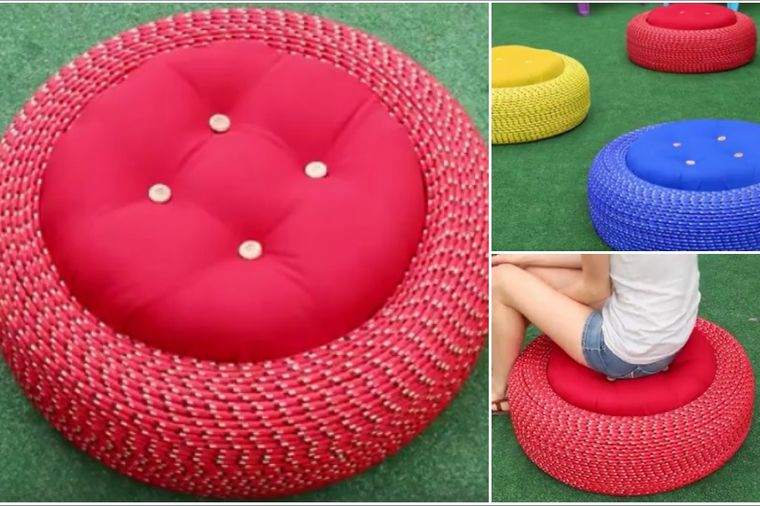 Kako da napravite fotelje za baštu od starih guma: Udobne, praktične i prelepe! (FOTO)
