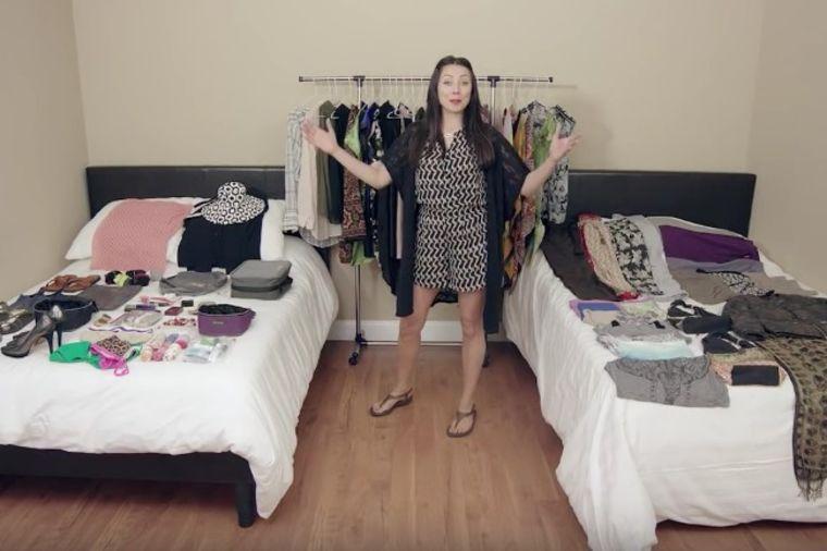 Čak 100 stvari je spakovala u jednu malu torbu: Da ne poverujete svojim očima! (VIDEO)