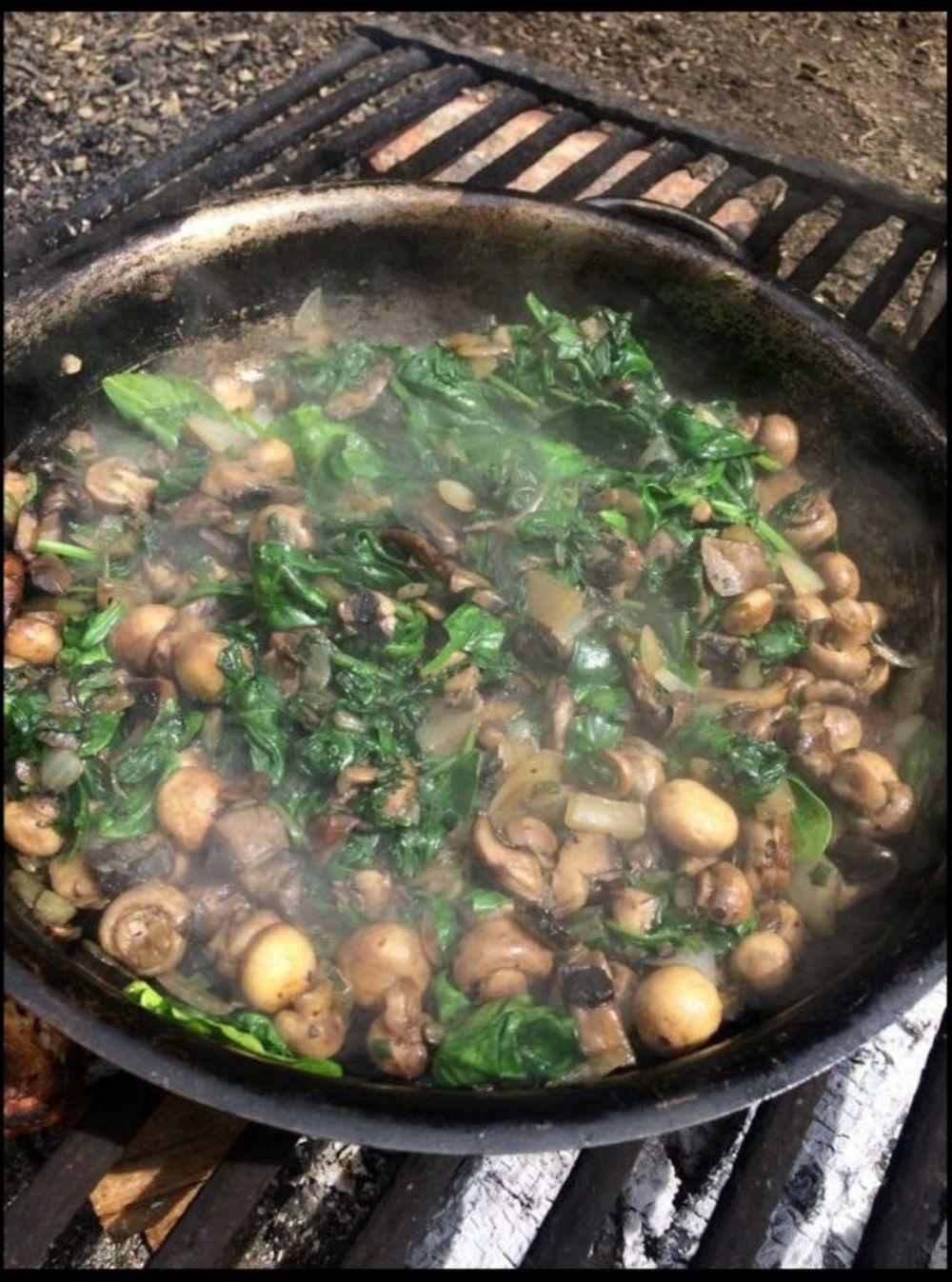 Kuva se hrana pronađena u šumi. Svi učestvuju u spremanju ručka. Foto: Profimedia