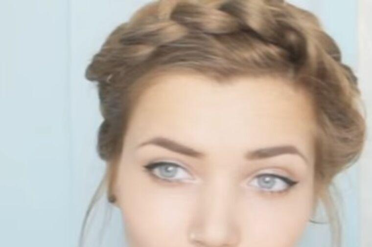 Ruska pletenica: Prelepa frizura gotova za 3 minuta! (VIDEO)