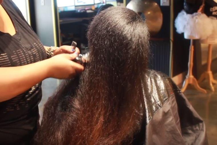 Samo je želela da se reši oštećene kose: Frizerka joj potpuno promenila lični opis! (VIDEO)