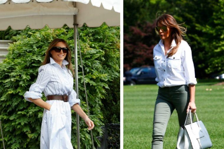 Melanija Tramp u dva opuštena izdanja: Da li joj bolje stoji haljina ili pantalone? (FOTO)