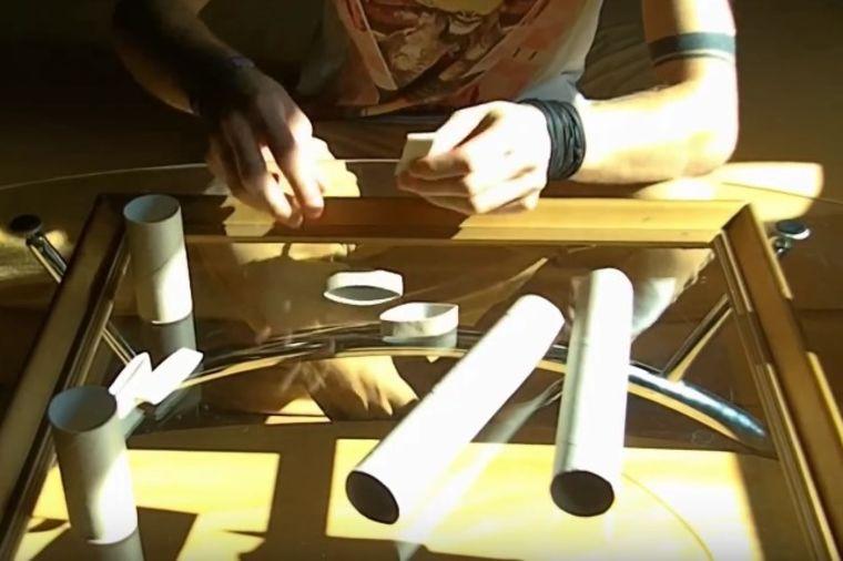 Uzeo je stari ram i rolne toalet papira: Krajnjim rezultatom oduševio svet! (VIDEO)
