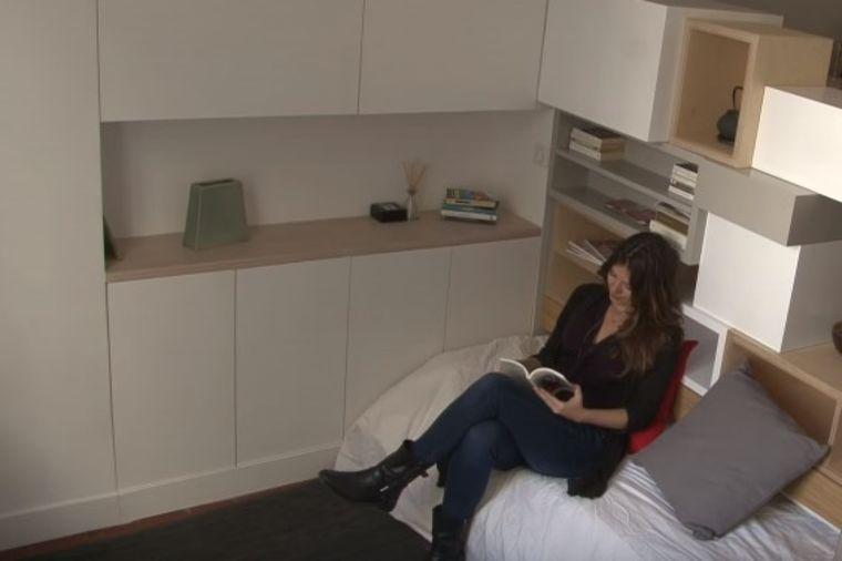 U stan od 12 kvadrata smestila 4 prostorije: Genijalno rešenje za male prostore! (VIDEO)