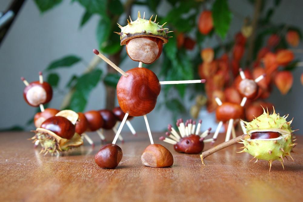 Omiljena jesenja zabava našeg detinjstva: Naučite decu da prave figurice od kestenja