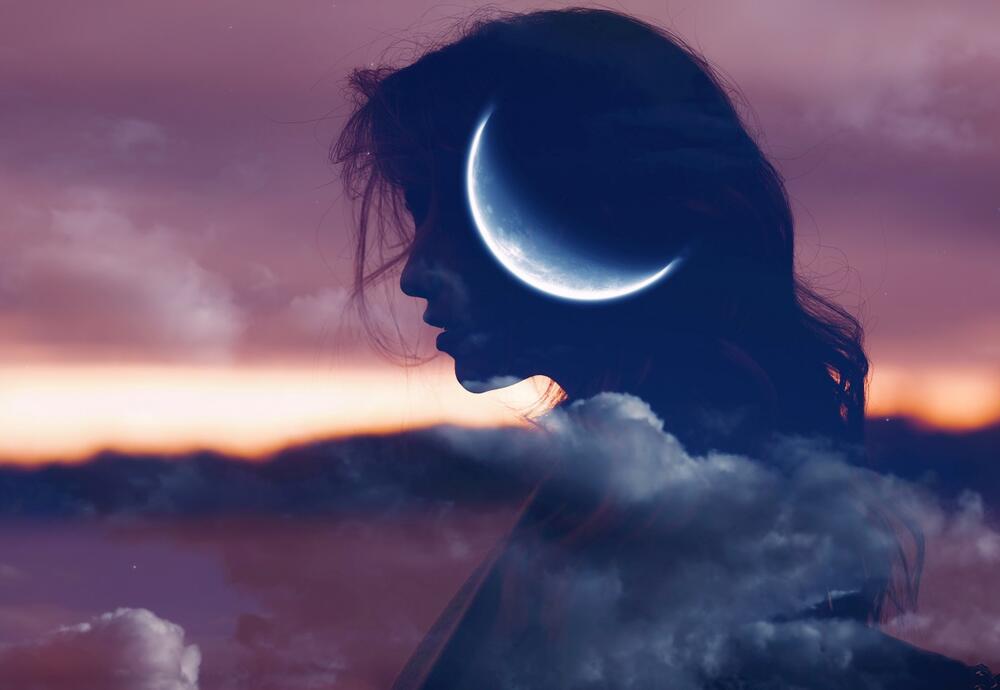 Mlad mesec, Horoskop, umetnička fotografija, umetnički portret