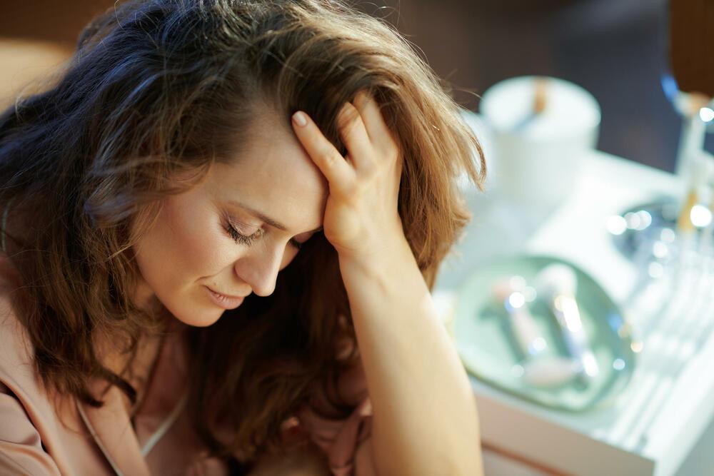 tužna žena, stres