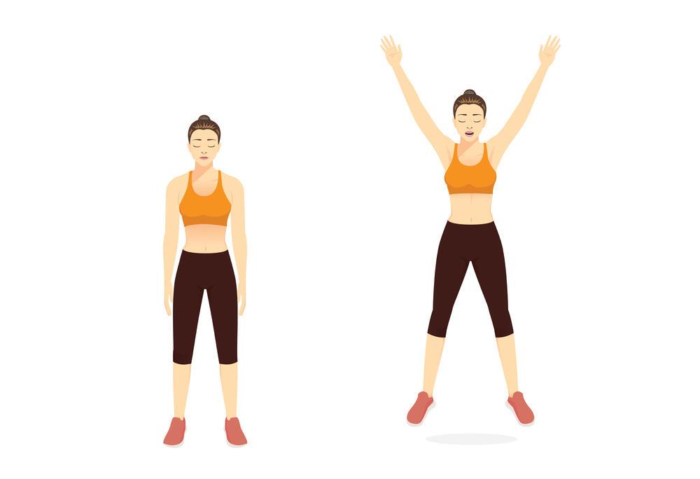 Zamahivanje rukama, vežba